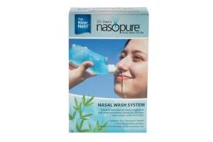 Rửa mũi xoang bằng muối cao cấp Nasopure - Made in USA (gồm: 1 Bình 8oz & 20 túyp muối)